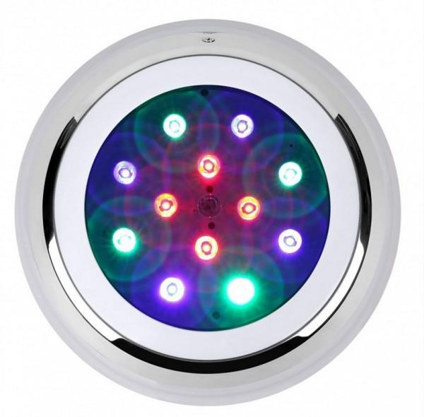 LED Poolbeleuchtung/ Unterwasserleuchte Aufbau RGBW IP68 1050 lm, 12W