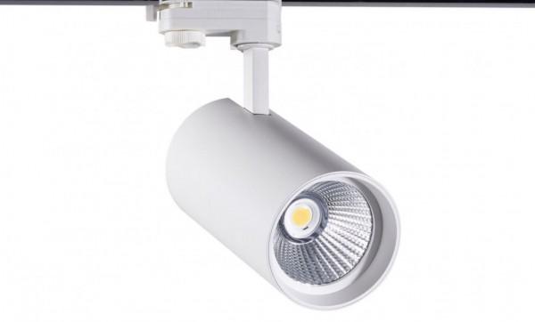 LED Stromschienenstrahler 30 Watt, 3-phasig mit einstellbarer Lichtfarbe