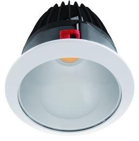 LED Einbaustrahler, Abmessungen gesamt Ø270mm, DA Ø250mm, Einbautiefe 180mm