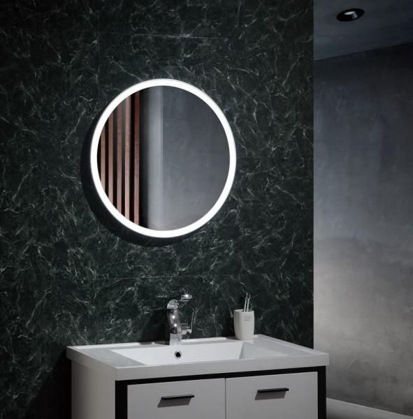 Spiegel mit LED Beleuchtung für's Bad Ø 600, 25 Watt, Lichtfarbe 6000K