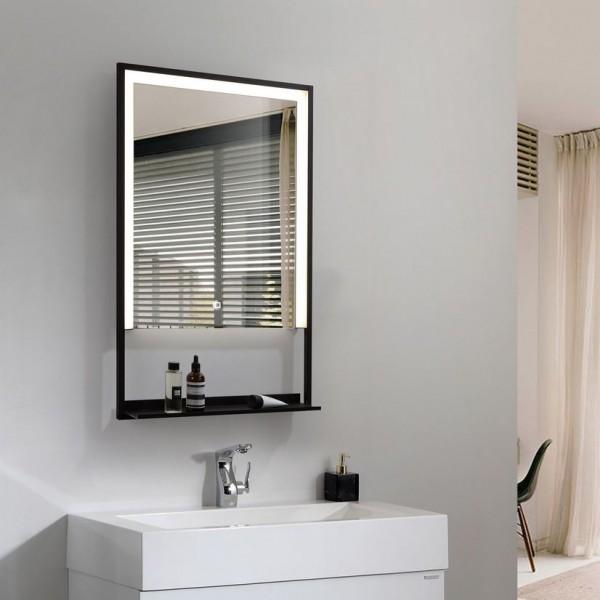 Spiegel mit LED Beleuchtung für's Bad 500 x 800mm, 45 Watt, Lichtfarbe 6000K