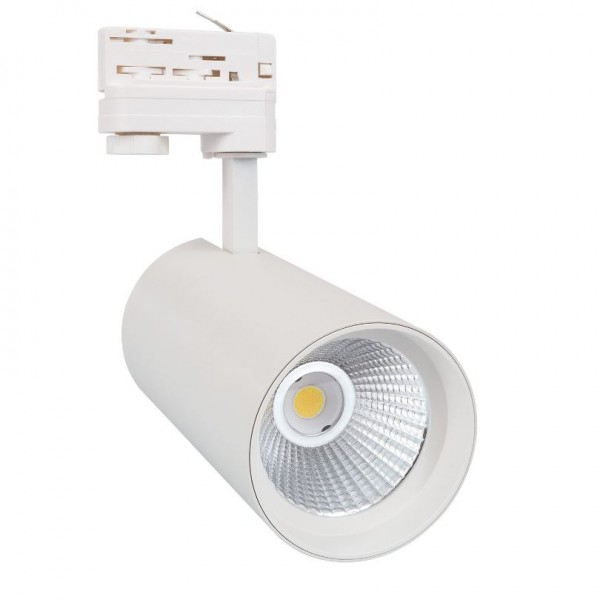 LED Stromschienenstrahler 3-phasig 30 Watt weiß, 30 Watt, Lichtfarbe 3000K