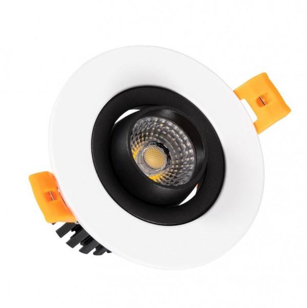 LED Einbaustrahler/ Downlight 7W schwenkbar, weiß, Lichtfarbe 4500K neutralweiß