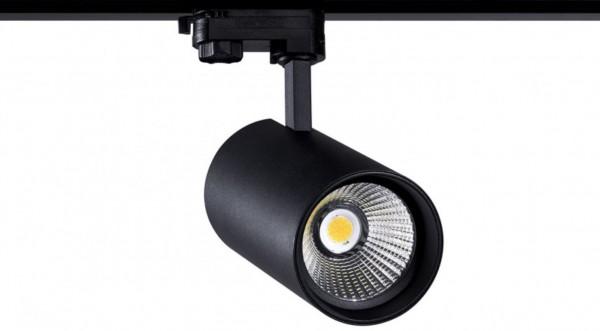 LED Stromschienenstrahler 40 Watt, 3-phasig mit einstellbarer Lichtfarbe