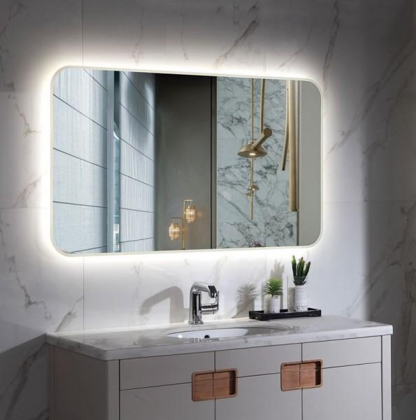 Spiegel mit LED Beleuchtung für's Bad 700 x 1000mm, 80 Watt, Lichtfarbe 6000K