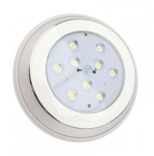 LED Poolbeleuchtung/ Unterwasserleuchte Aufbau warmweiß IP68, 810 lm, 9W
