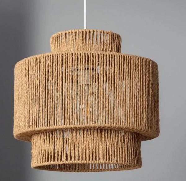 LED Wohnraumleuchte mediterran, max.60 Watt (Leuchtmittel/ Glühlampe nicht enthalten)
