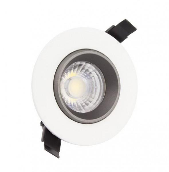 LED Einbaustrahler/ Downlight 7W schwenkbar, weiß, Lichtfarbe 3000K warmweiß