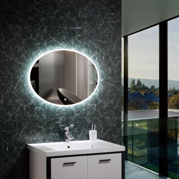 Spiegel mit LED Beleuchtung für's Bad 580 x 780mm, 45 Watt, Lichtfarbe 6000K