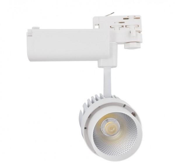 LED Stromschienenstrahler 30 Watt, Lichtfarbe 3000K warmweiß, 2200lm