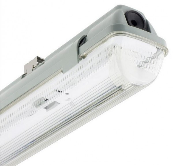 LED Wannenleuchte 60 cm 1-flammig LED-WL-60-1F, Maße: 662 x 66 x 90 mm, Schutzart IP: IP65, Schutzar