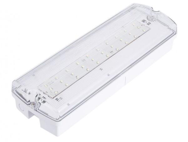 LED Notleuchte Decken-/Wandmontage, Permanentbetrieb und nur Notbetrieb einstellbar