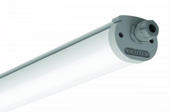 LED Lichtbandleuchte Einzelplatz 1190mm zur Schnellmontage, 19,5 Watt, 6000K