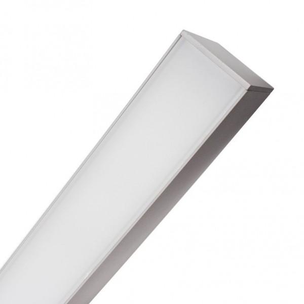 LED Lichtband modern Büro/ Office silber flackerfrei, 40 Watt, Lichtfarbe 6000K