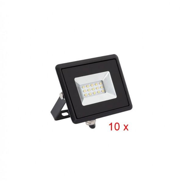 LED Außenstrahler IP65 10 er-Pack,10 Watt DOB,Lichtfarbe 6000K