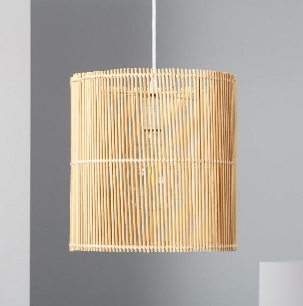 LED Wohnraumleuchte mediterran (Rattan), max.40 Watt (Leuchtmittel/ Glühlampe nicht enthalten)