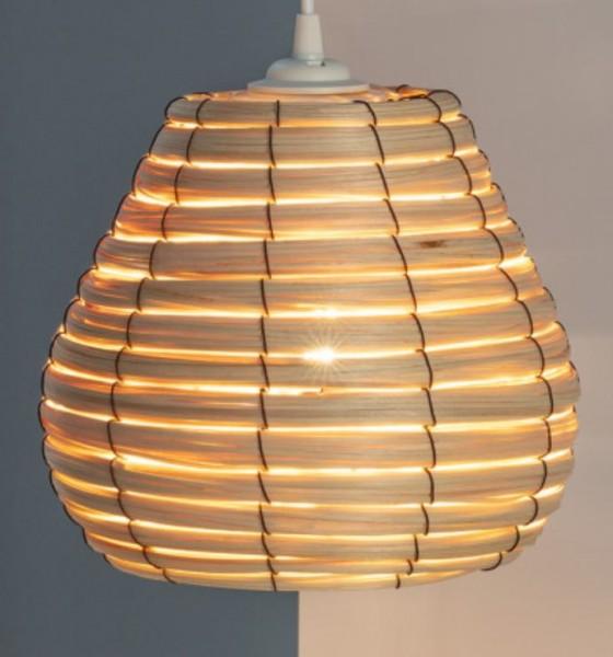 LED Wohnraumleuchte mediterran (Rattan), max.60 Watt (Leuchtmittel/ Glühlampe nicht enthalten)