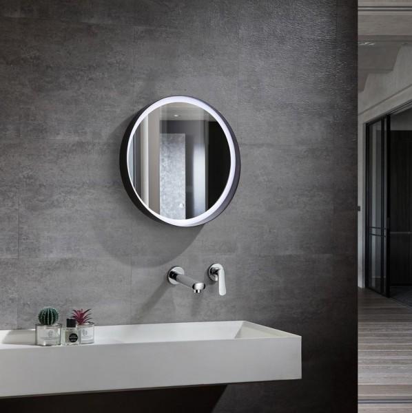 Spiegel mit variabler LED Beleuchtung für's Bad, Ø 600, 30 Watt