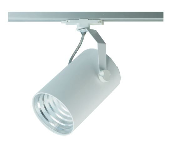 LED Stromschienenstrahler 23,5 Watt, silber, Lichtfarbe 4000K, 23,5 Watt, 3200lm