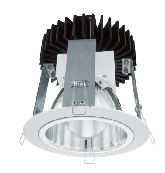 LED Downlight weiß hochglanz gesamt Ø 165mm DA Ø 150mm