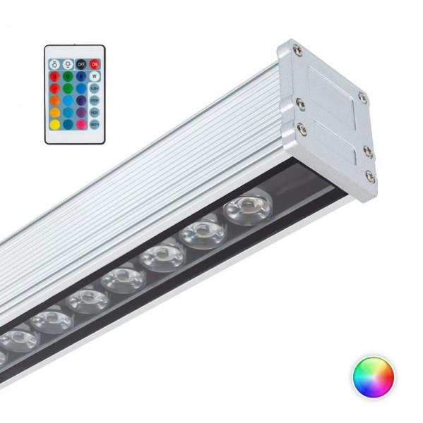 LED Linearstrahler RGB IP65 mit Fernbedienung, 18 Watt, Lichtfarbe wählbar (RGB)