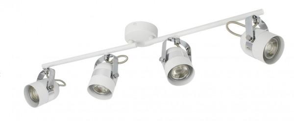 LED Decken-/ Wandleuchte, ohne Leuchtmittel 4 x GU10 Spot