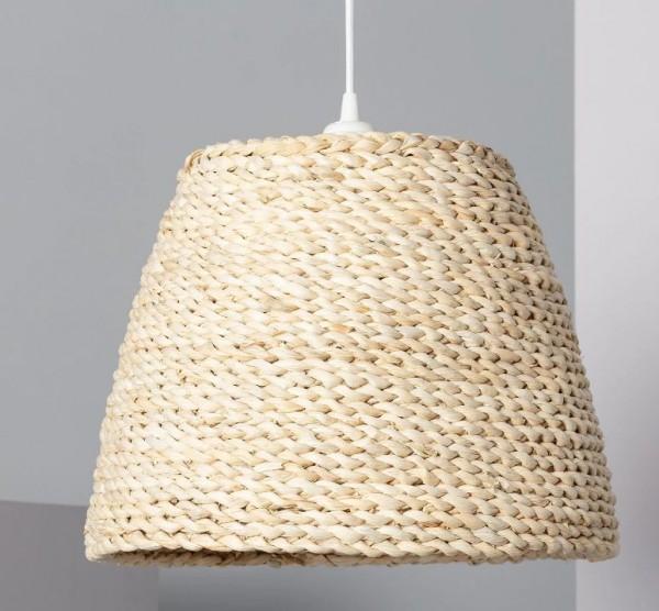 LED Wohnraumleuchte mediterran (Bast), max.60 Watt (Leuchtmittel/ Glühlampe nicht enthalten)