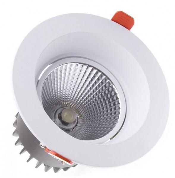 LED Einbaustrahler/ Downlight LEDL-20-830-9010-D130, 3000K, 1600 lm; 20W, weiß,