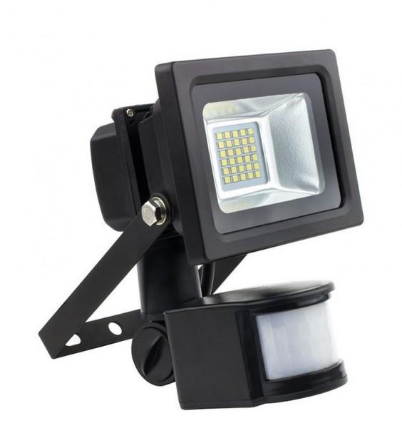LED Außenstrahler IP66 mit Bewegungsmelder 4000K neutralweiß, 10 Watt, 1150lm