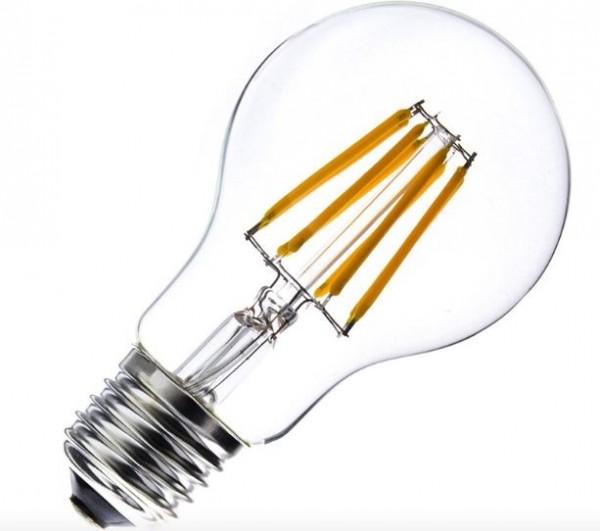 LED Lampe Filament Glühlampenform, 6 Watt, Lichtfarbe 2500K warmweiß, 800 LEDlm