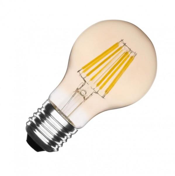 LED Lampe Filament Glühlampenform, 6 Watt, Lichtfarbe 2500K warmweiß, 550lm E27